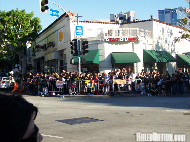 One of the 4 blocks that was covered with fans