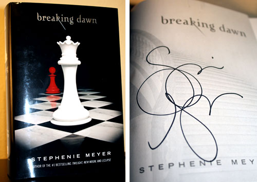 Yes, Stephenie Meyer Touched This (Unless She Wears Signing Gloves)